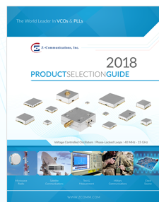 Z-Communications product selection guide